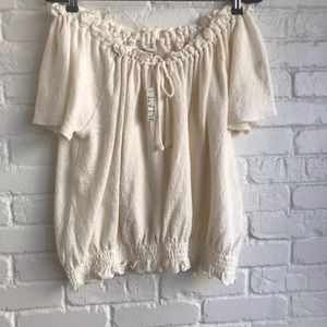 New w tags Madewell off the shoulder Sweater Large